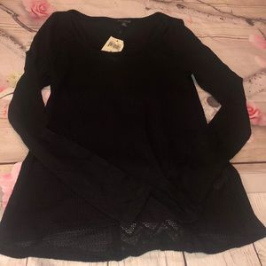 Lucky Brand Black Thermal Shirt M New